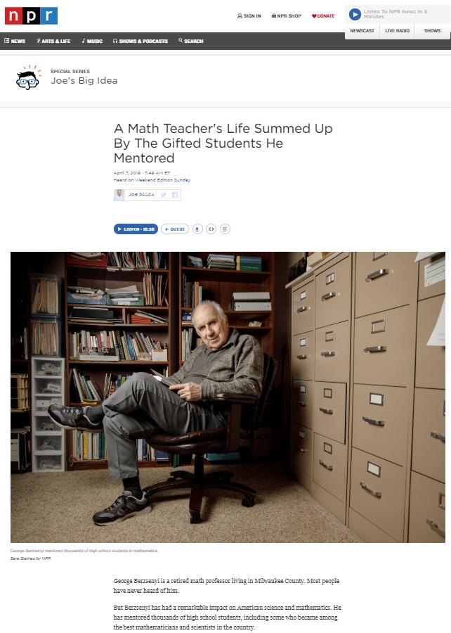 1296 Relax and Succeed - Math teacher George Berzensnyi