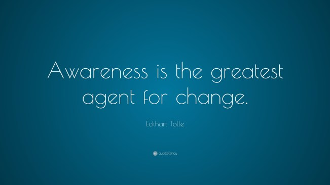 1453 Relax and Succeed - Awareness is the greatest agent for change