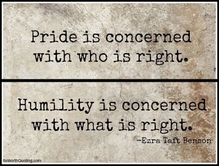 1524 Relax and Succeed - Pride is concerned with who is right