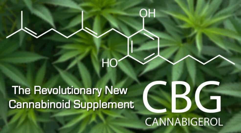 formula CBG cu plante pe fundal