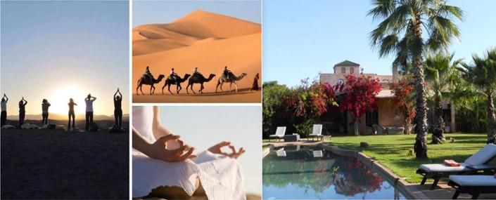 La Caravane de la Présence entre le sud du Désert Marocain et notre Riad à Marrakech du 23 février au 2 mars 2020
