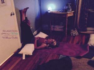Restorative Yoga Legs Up Wall