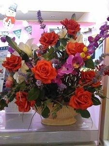 フロントに飾られていたお花の画像
