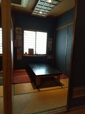 福耳国分店の畳のお座敷の写真