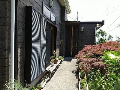 香林の入口ドアの写真