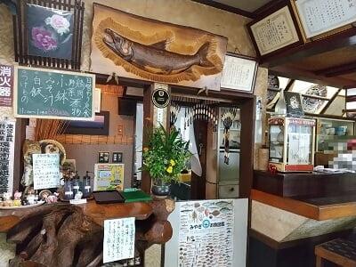 大和家のレジ付近の店内の雰囲気の写真