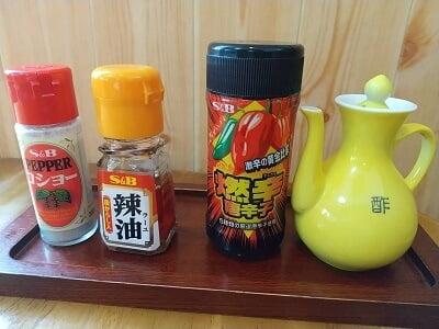 味乃一番のテーブルセットの写真