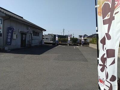 ぎゅう太霧島店のお店横のテイクアウト駐車場の写真