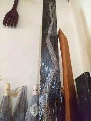 竹林の蛇の抜け殻がある写真