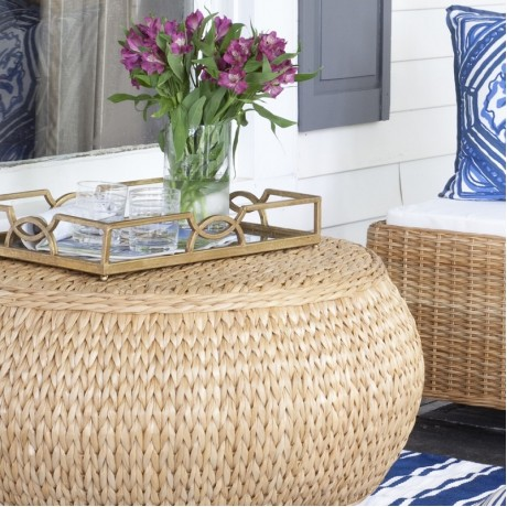 sweater weave ottoman coffee table