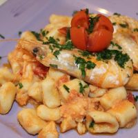 "(english) ""Cavatelli"" & prawns sauce"