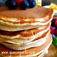 Fluffy Pancakes With Instant Homemade Buttermilk Recipe