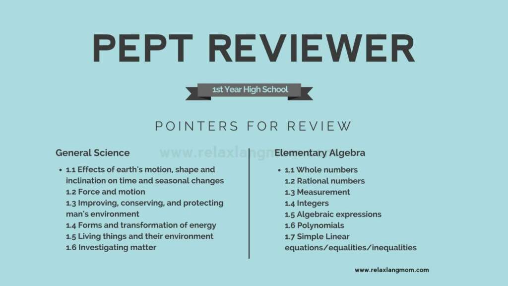 pept test and pept reviewer (general science and math)