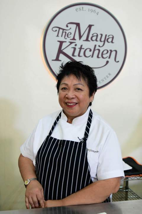 Chef Myrna Segismundo at the Maya Kitchen Culinary Elite Series Cooking Class