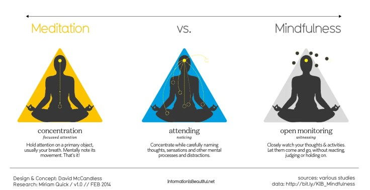 mindfulness vs meditation