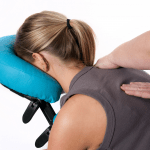 Seated massage in a special massage chair