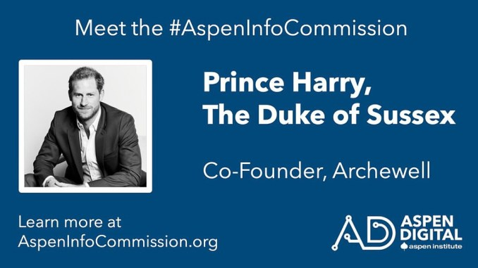 """Prince Harry Gets Another Job at Aspen Institute The Aspen Institute has hired Prince Harry for a new position. In a profile, the organization describes him as a """"humanitarian, military vet, mental health campaigner, and environmentalist."""" The announcement comes just one day after he and his wife Meghan Markle stepped down from the Royal Family last year and were revealed as taking on a new role at BetterUp, a Silicon Valley-based start-up coaching company. He is the company's first chief impact officer. BetterUp Inc is a San Francisco-based start-up that provides mental health and executive coaching. 'Like I've said, the reality of today's modern landscape has us inundated by an explosion of disinformation, affecting our capacity as individuals and communities to think clearly and fully appreciate the environment we live in,' Harry said in a statement about his new work. 'I think this is a humanitarian crisis that needs a multi-stakeholder response from activist organizations, members of the media, independent scholars, and representatives from both government and civil society.' I'm thrilled to be a part of the current Aspen commission and to contribute to a solution-focused approach to the knowledge disorder crisis.' 'As co-founder of Archewell, [Harry] is focused on driving social transformation in all societies through non-profit work as well as innovative activations,' the firm said after he was hired. 'The Archewell mission—which currently includes Archewell Foundation, Archewell Productions, and Archewell Audio—is unified behind the strongly held conviction that love is the driving cultural power of the twenty-first century.' Prince Harry has devoted his life's work to promoting causes that he is enthusiastic regarding. Craig Newmark, the billionaire developer who created Craigslist, a classified ads website, is funding the committee."""
