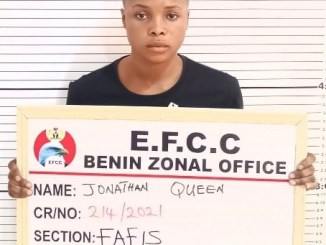 Jonathan Qeen arrested for internet fraud in Delta State
