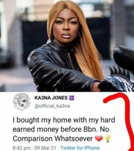 Ka3na Throws Shades at Nengi,BBN, BBN: Ka3na Throws Shades at Nengi Over Her New House, Relay Vibes