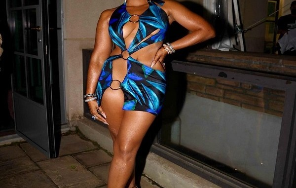 Ashanti leaves little to the imagination as she attends Fat Joe's party