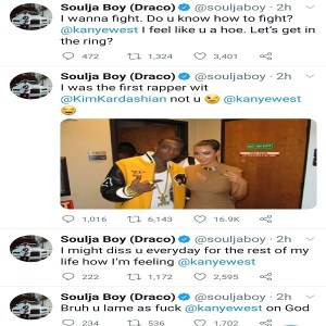 Soula Boy challenges Kanye West to a fight, Soula Boy challenges Kanye West to a fight, Relay Vibes