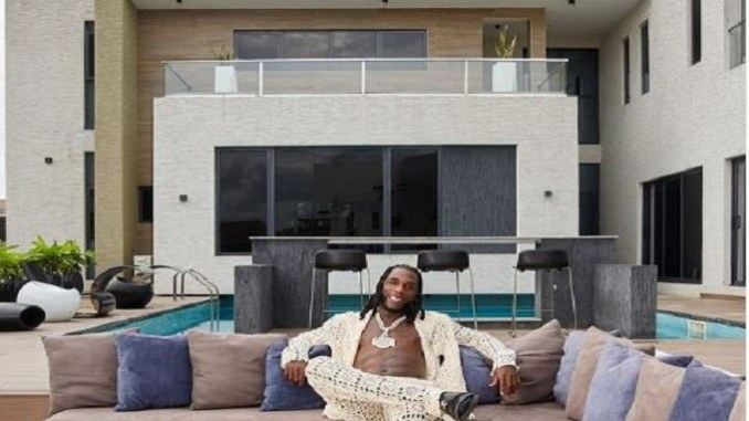 Burna Boy shows off his magnificent mansion