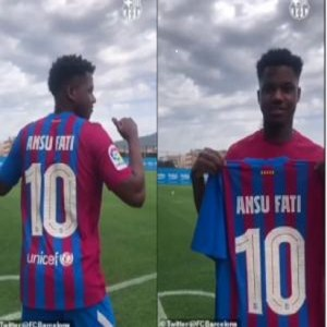 Ansu Fati is chosen as Lionel Messi's successor to wear the No 10 jersey, Ansu Fati is chosen as Lionel Messi's successor to wear the No 10 jersey, Relay Vibes