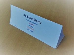 Desk Name Tent card clifton strengthsfinder strength top 5 theme spreadsheet mail merge print workshop