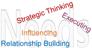 strengths leadership domains needs strategic thinking influencing relationship building executing