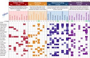 cascade strengths team grid gallup matrix chart excel