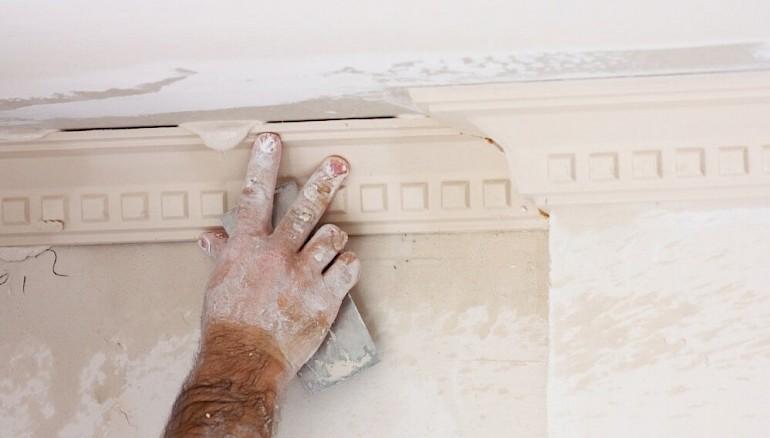 Duvar ve tavan macun ile tedavi