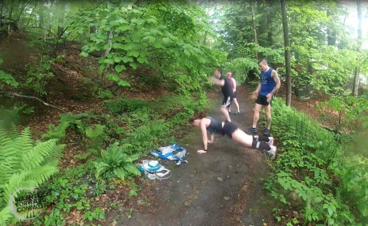 Burpees on the trail