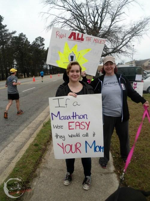 All American Marathon spectator signs