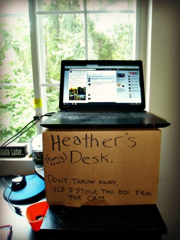 Heather's fancy new desk