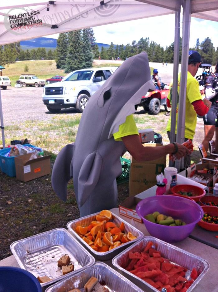 Aid Station Shark TransRockies Run