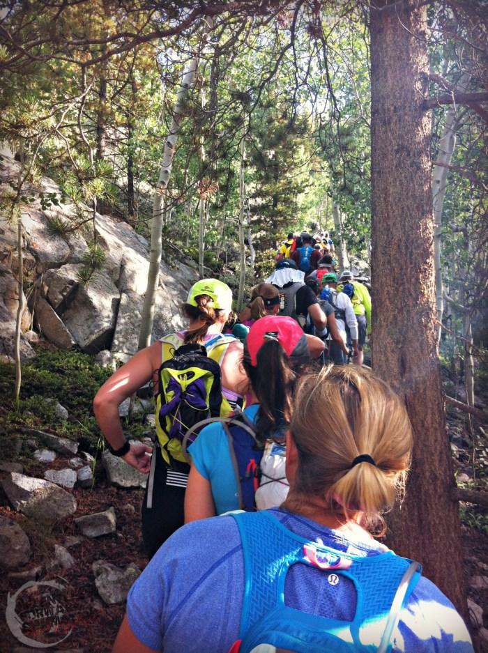 Beginning of climb at Sheep Gulch TransRockies Run