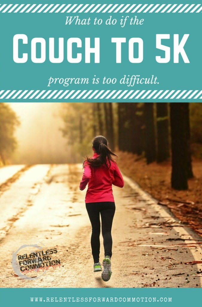 What To Do If The Couch To 5k Program Is Too Difficult