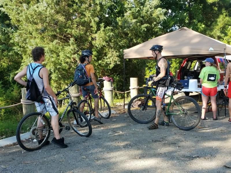 Bikes scorched trails