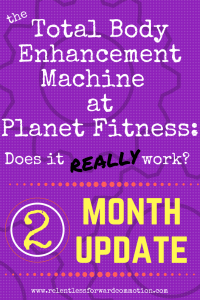 Total Body Enhancement at Planet Fitness: 2 Month Follow Up