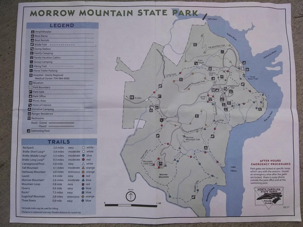 Morrow Mountain State Park Map