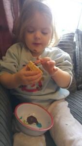 Izzy eating cake