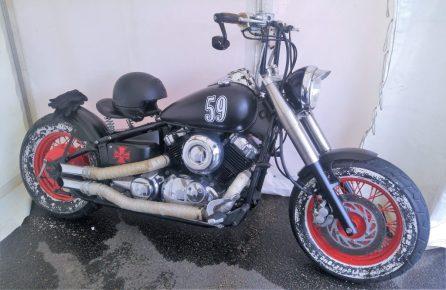 Mr Greens Barbershop Motorbike