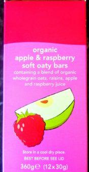 Organic apple & raspberry soft oaty bars