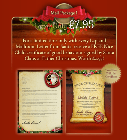 Personalised Santa Letter Giveaway