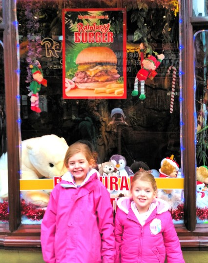 Visiting Santa at Rainforest Cafe