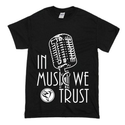 In Music We Trust Vintage Tee