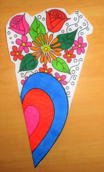Mother's Day Flower Colouring Craft