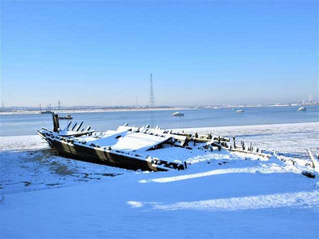 Gull Lightship in the snow