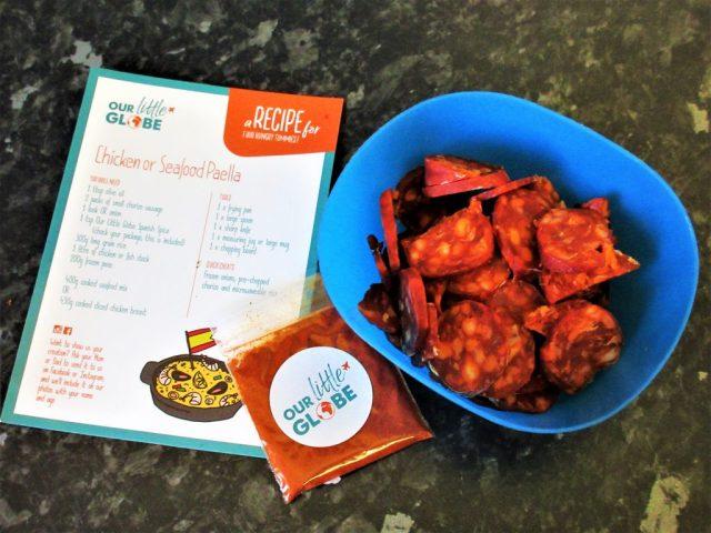 Our little globe recipe card & spice