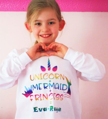 Unicorn + Mermaid + Princess = Eva-Raye